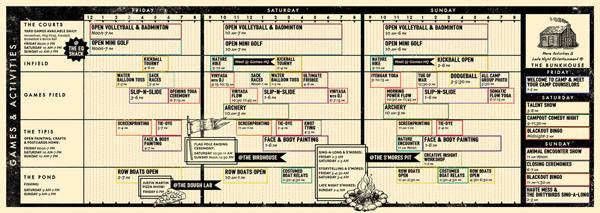 Schedule of Games & Activities