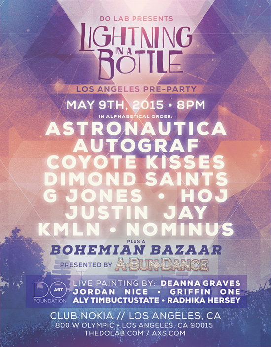 Lightning in a Bottle LA Preparty Flyer
