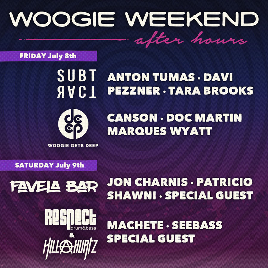 Woogie Weekend 2016 afterhours lineup