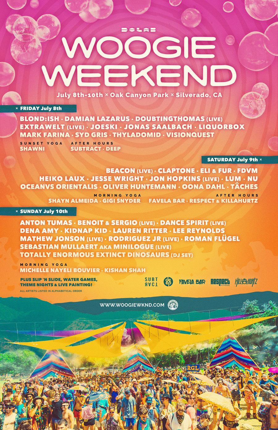 Woogie Weekend 2016 Lineup