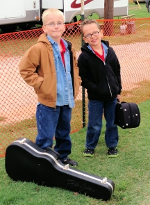 2012 Preston and Aaron Mayes, ready for the OIBF Youth Instrument Competions