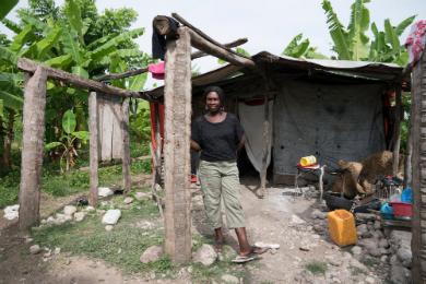 Joycelyne lost her home after Hurricane Matthew
