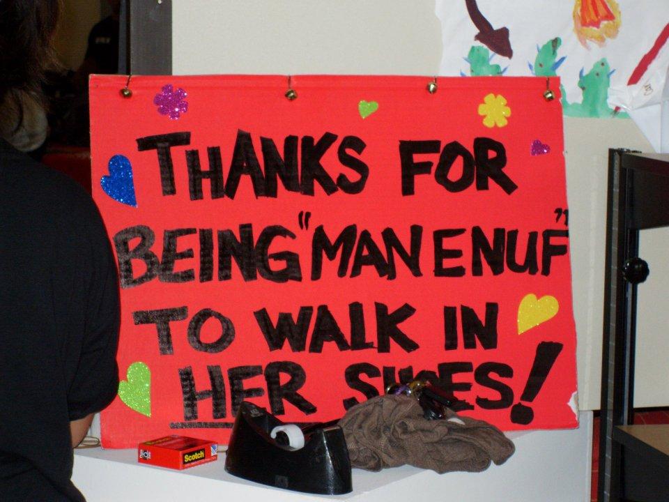 handmade sign walk a mile