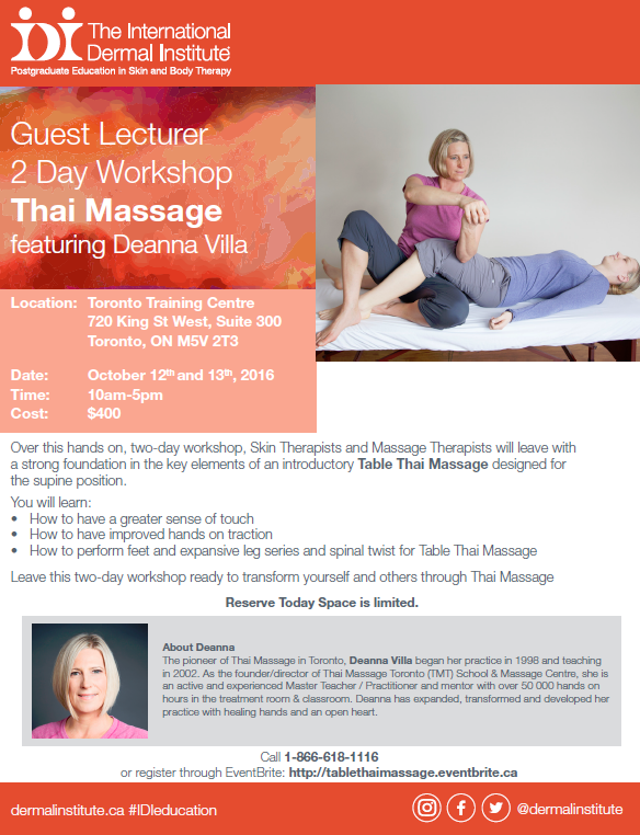 IDI Guest Lecturer Workshop: Thai Massage