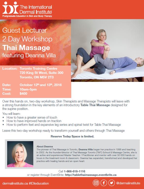 IDI Guest Lecturer Workshop: Thai Massage