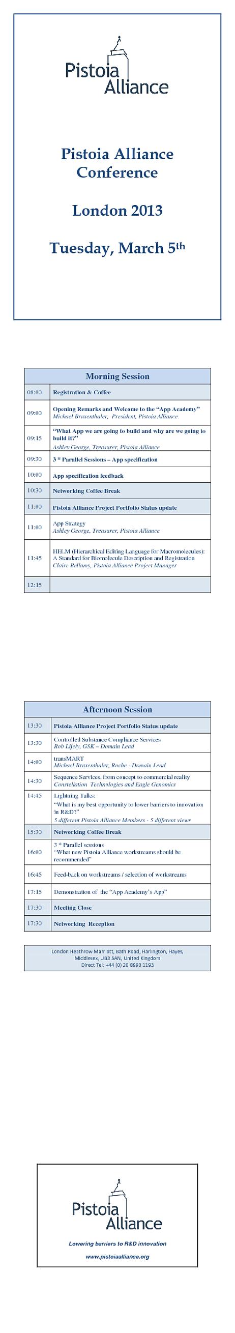 PA 2013 Annual European Meeting - Agenda
