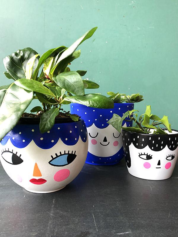 Painted Plant Pot Workshop