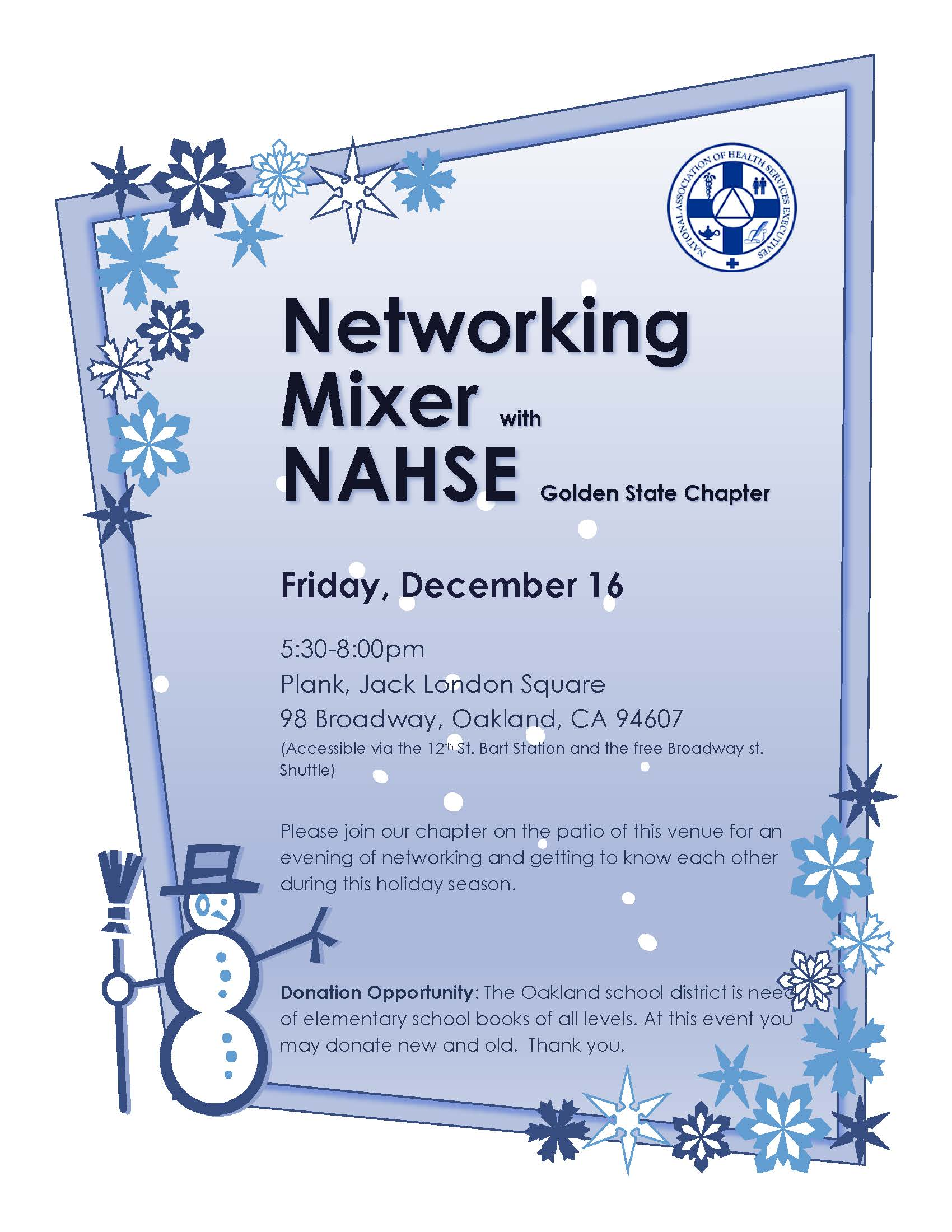 Networking with NAHSE at Plank, Oakland