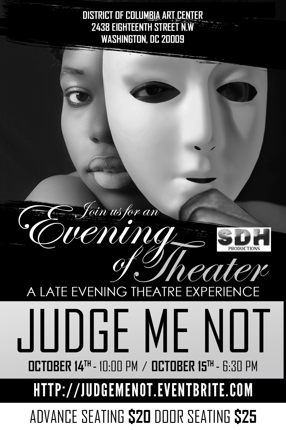 Theatre News: 'Judge Me Not' to Be Presented by SDH Productions at District of Columbia Arts Center
