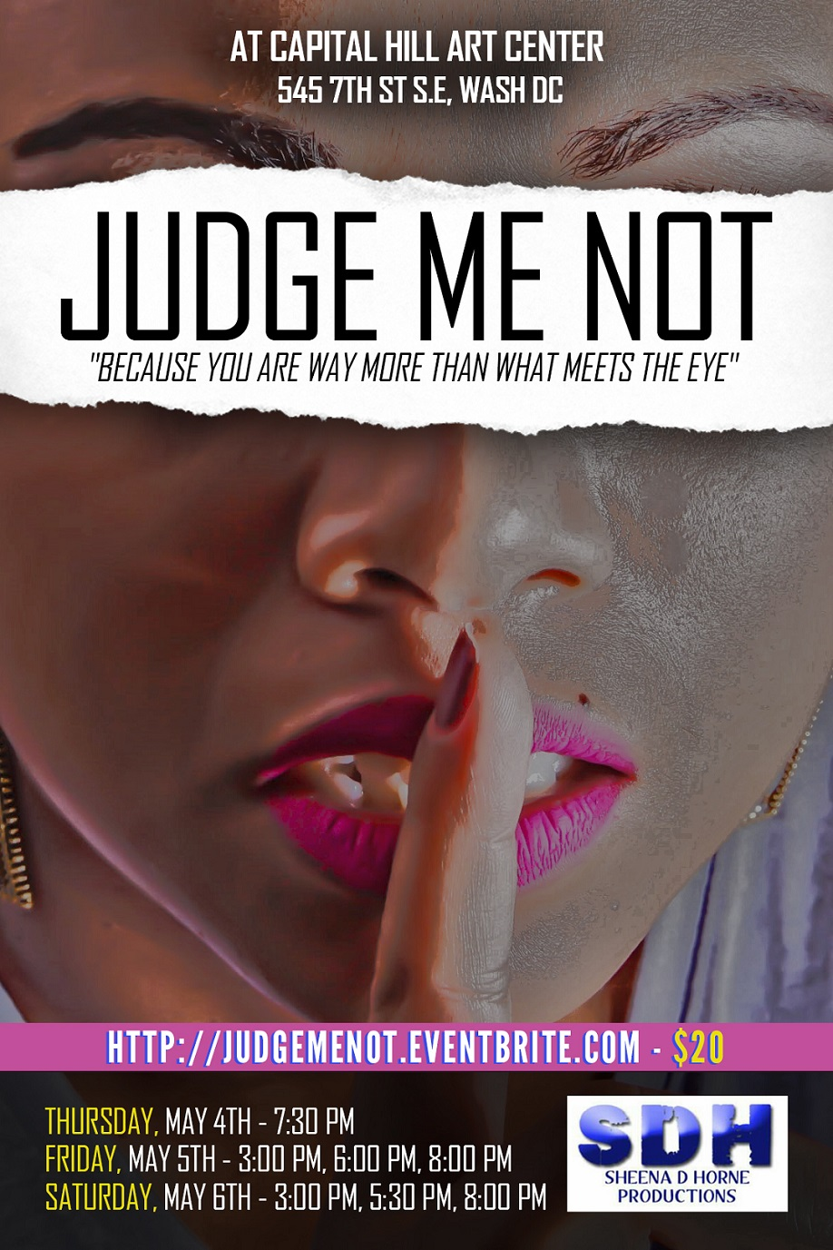 Theatre News: 'Judge Me Not' Monologue Show, May 4-6