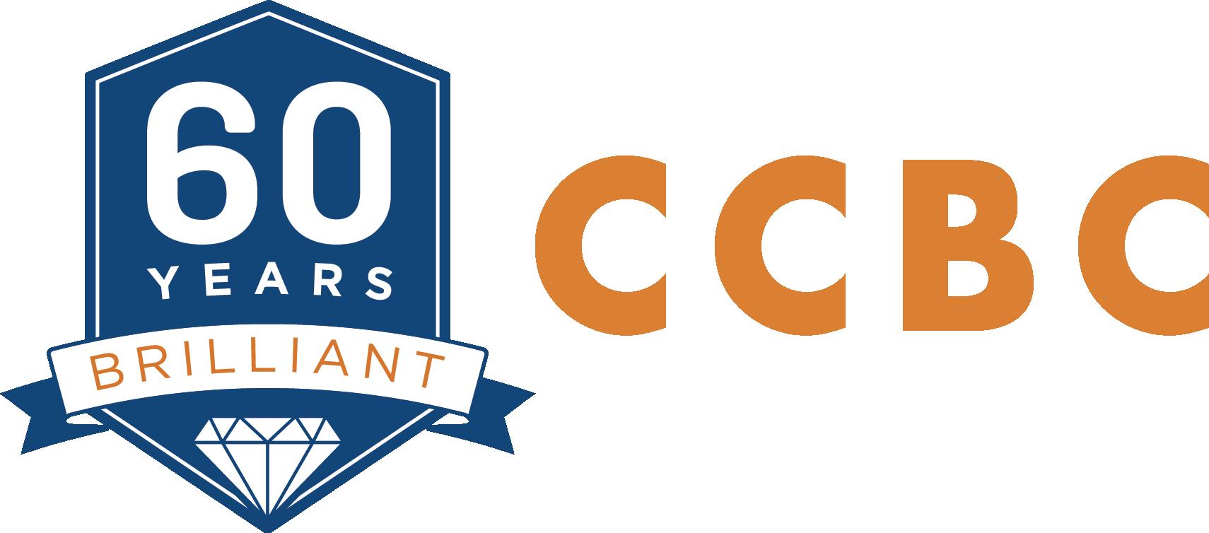 CCBC 60 Years Brilliant logo