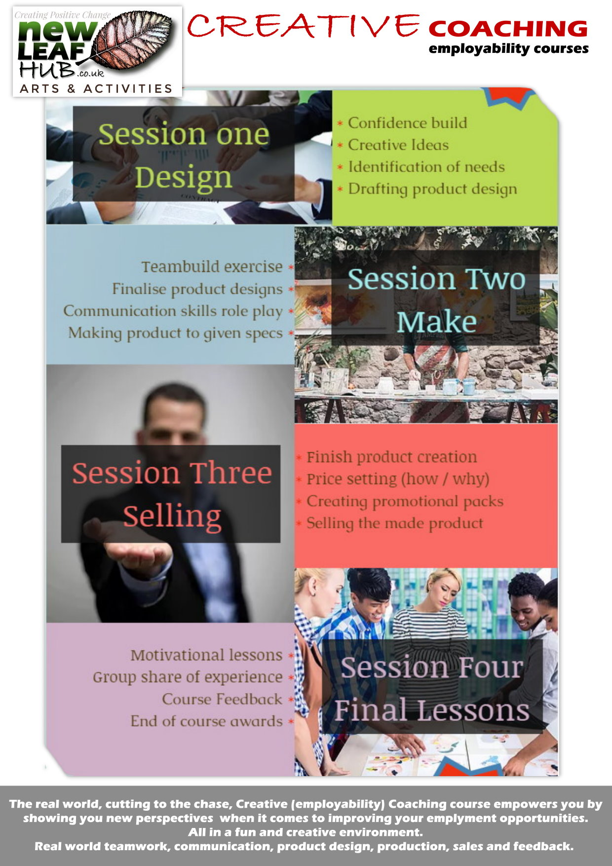 Creative employment Coaching ballymena