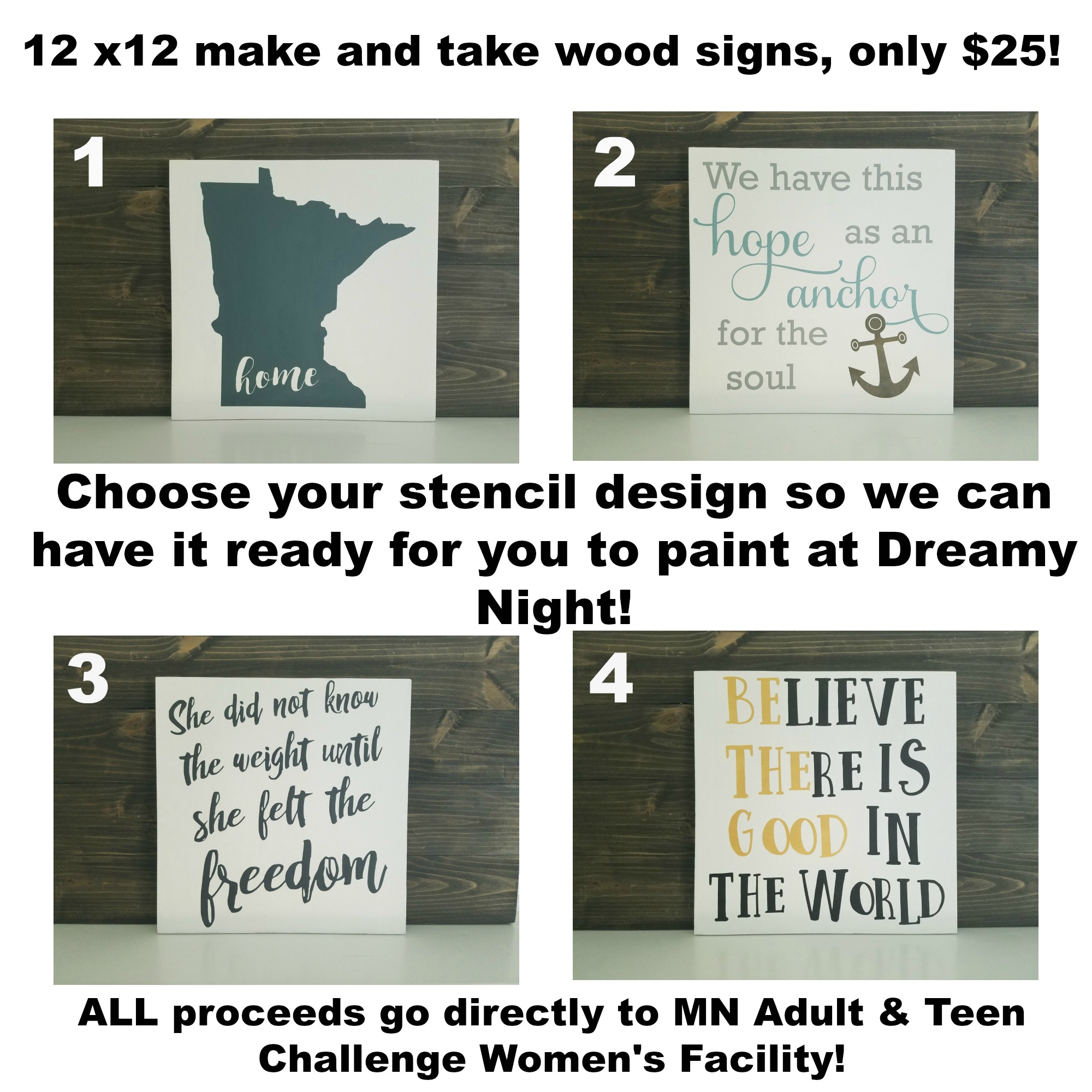 12x12 Wood Signs, Make & Take