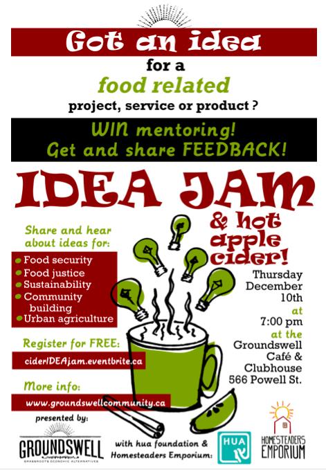 Cider IDEA JAM poster