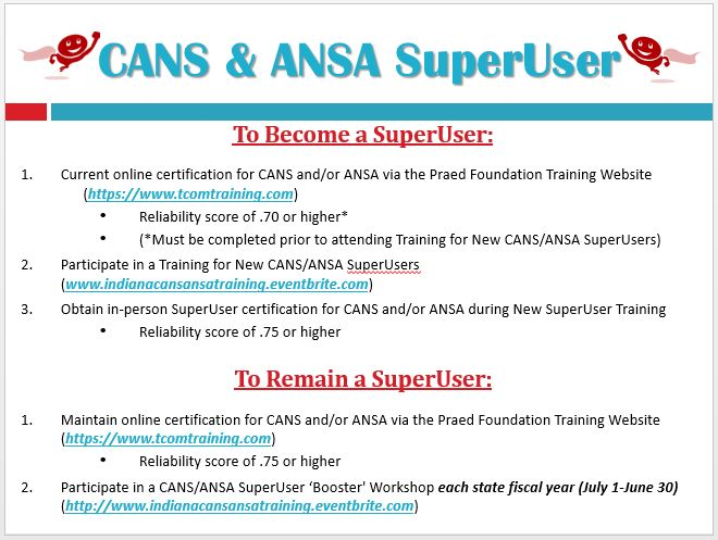 Indiana CANS & ANSA SuperUser In-Person Trainings Events   Eventbrite