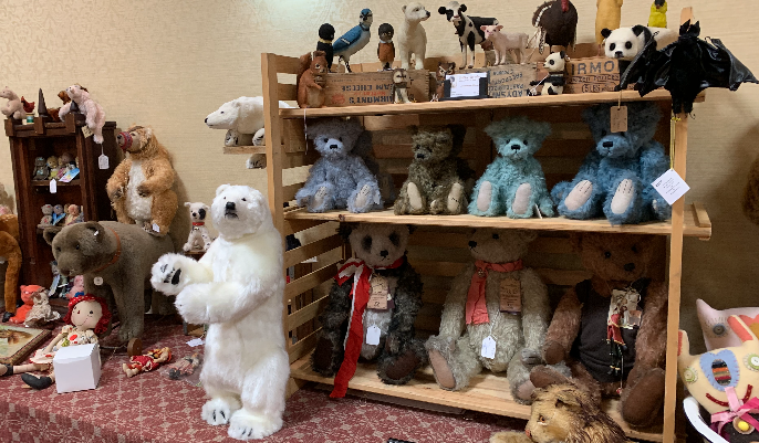 Amazing vendors at our Doll and Bear Show