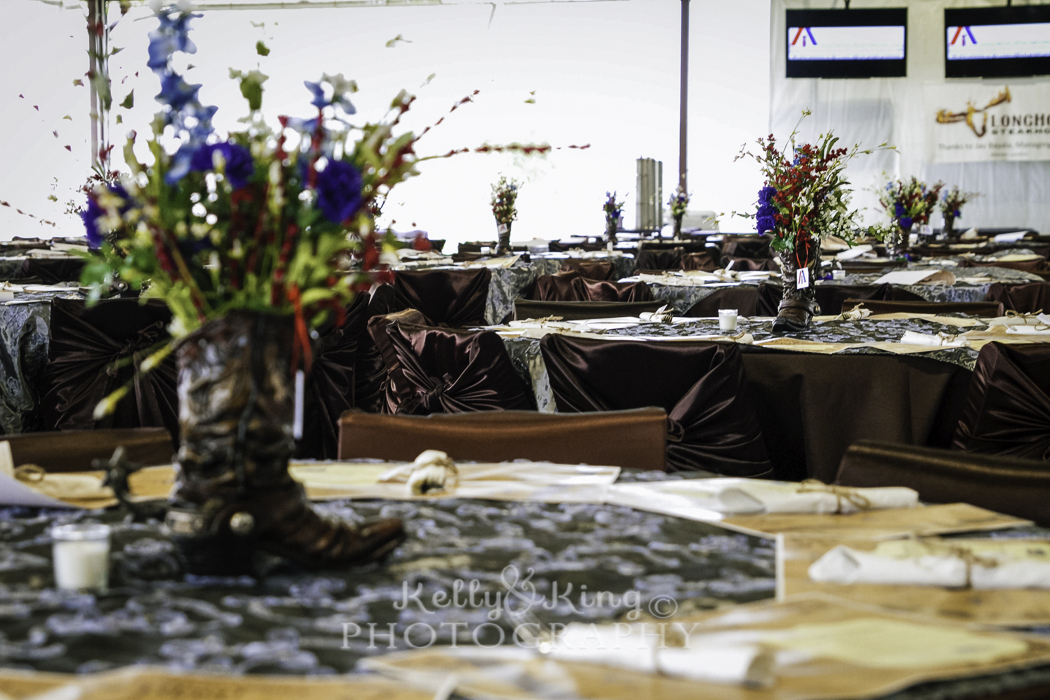 Table Settings from 2015 A Totally Texan Casino Gala