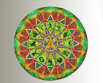 Zodiac Mandala created by Chris Flisher