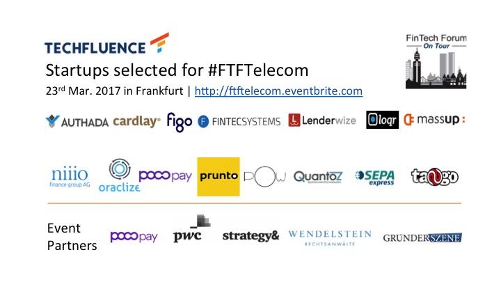Selected Startups - FTF On Tour | FinTech meets Telecom