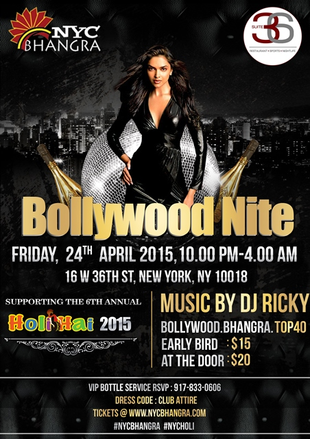 Bollywood nite in support for Holi Hai 2015