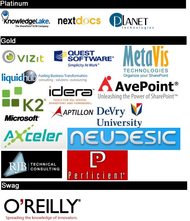 2012 Sponsors