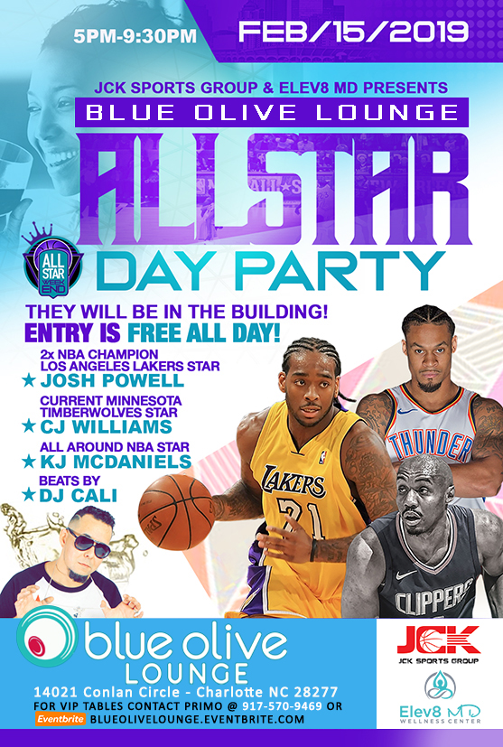 NBA All Star Blue Olive Lounge Day Party