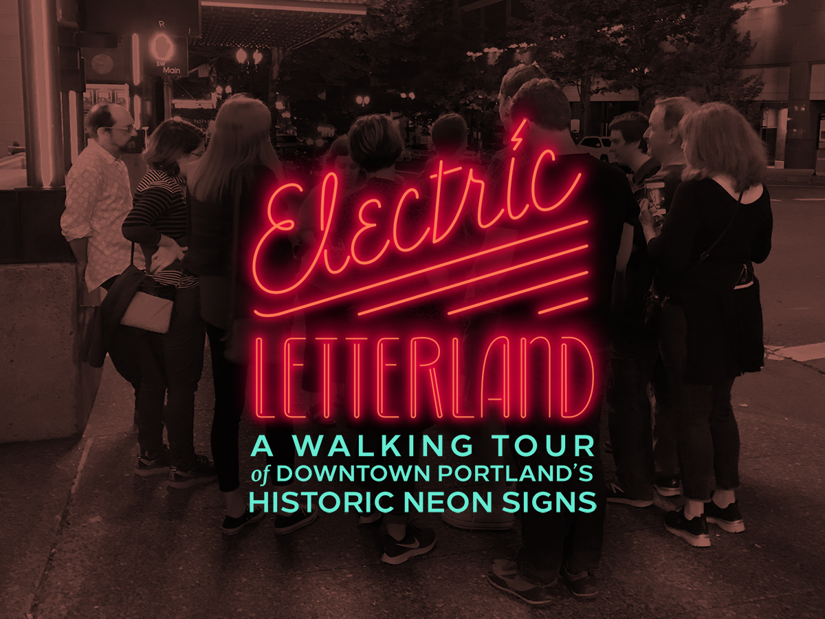 Electric Letterland walking tour group