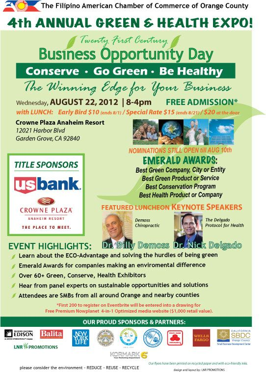 Updated Green and Health flyer