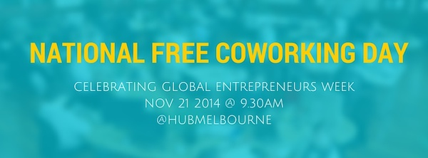 GEW National Free Coworking Day. Hub Melbourne.