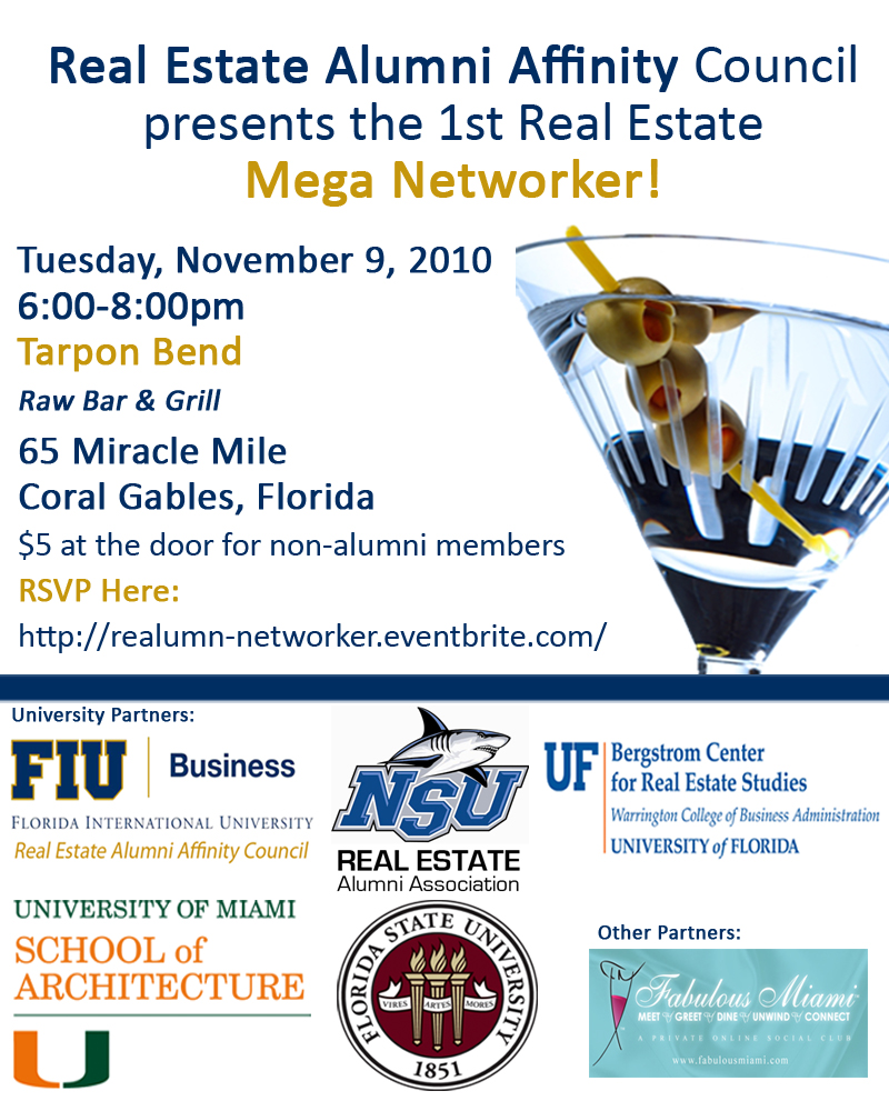 Real Estate Alumni Mega Networker