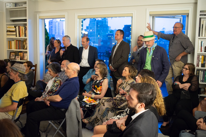 The audience watches performers belt Gershwin tunes at the former Gershwin penthouse.