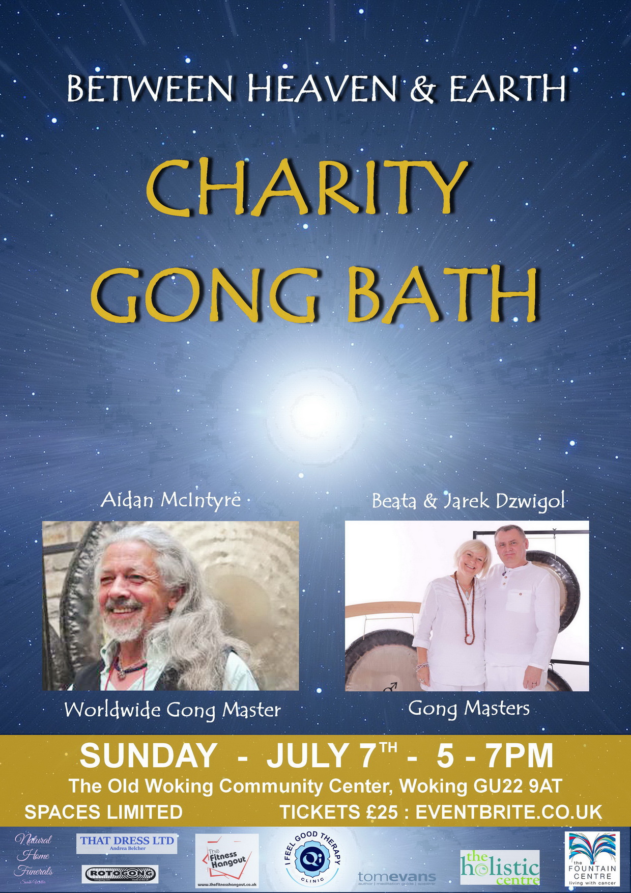 BETWEEN HEAVEN & EARTH   Charity Gong Bath