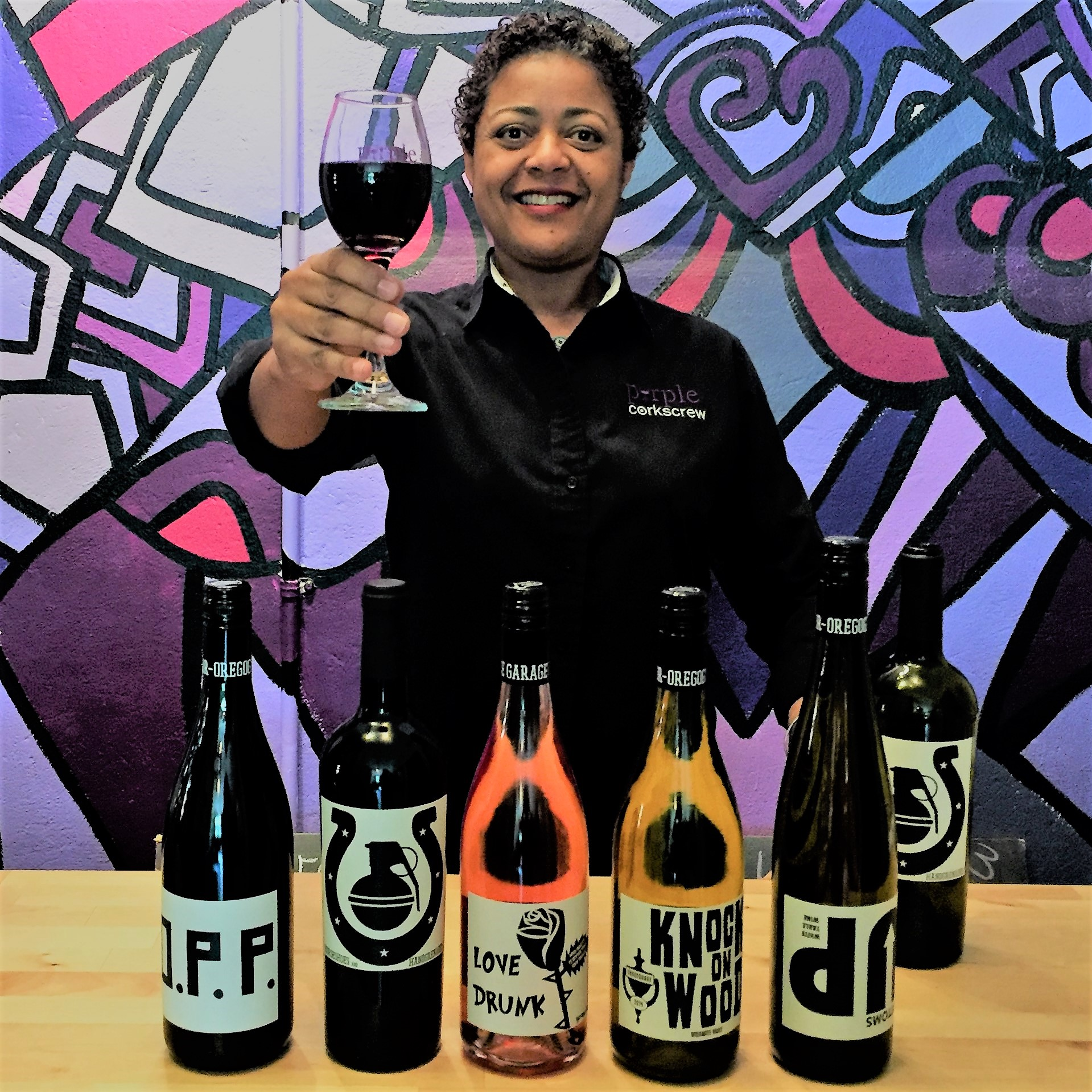 Purple Corkscrew Owner Steffini Bethea