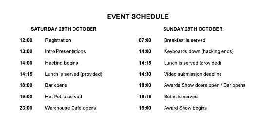 HM2017 Schedule