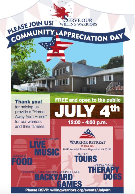 July 4th community appreciation day