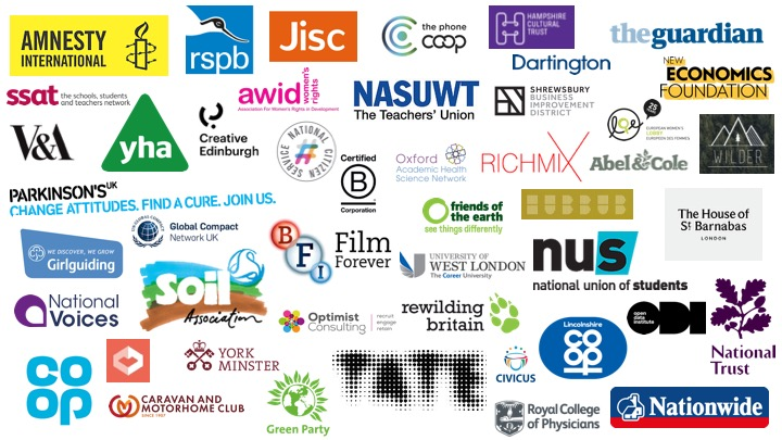 Organisations we've worked with to date.