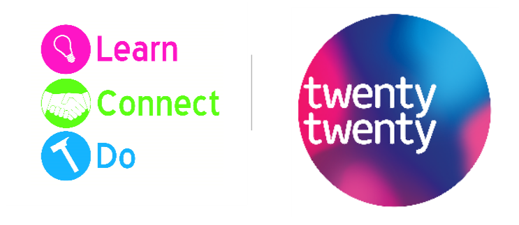 Logos for LearnConnectDo and TwentyTwenty