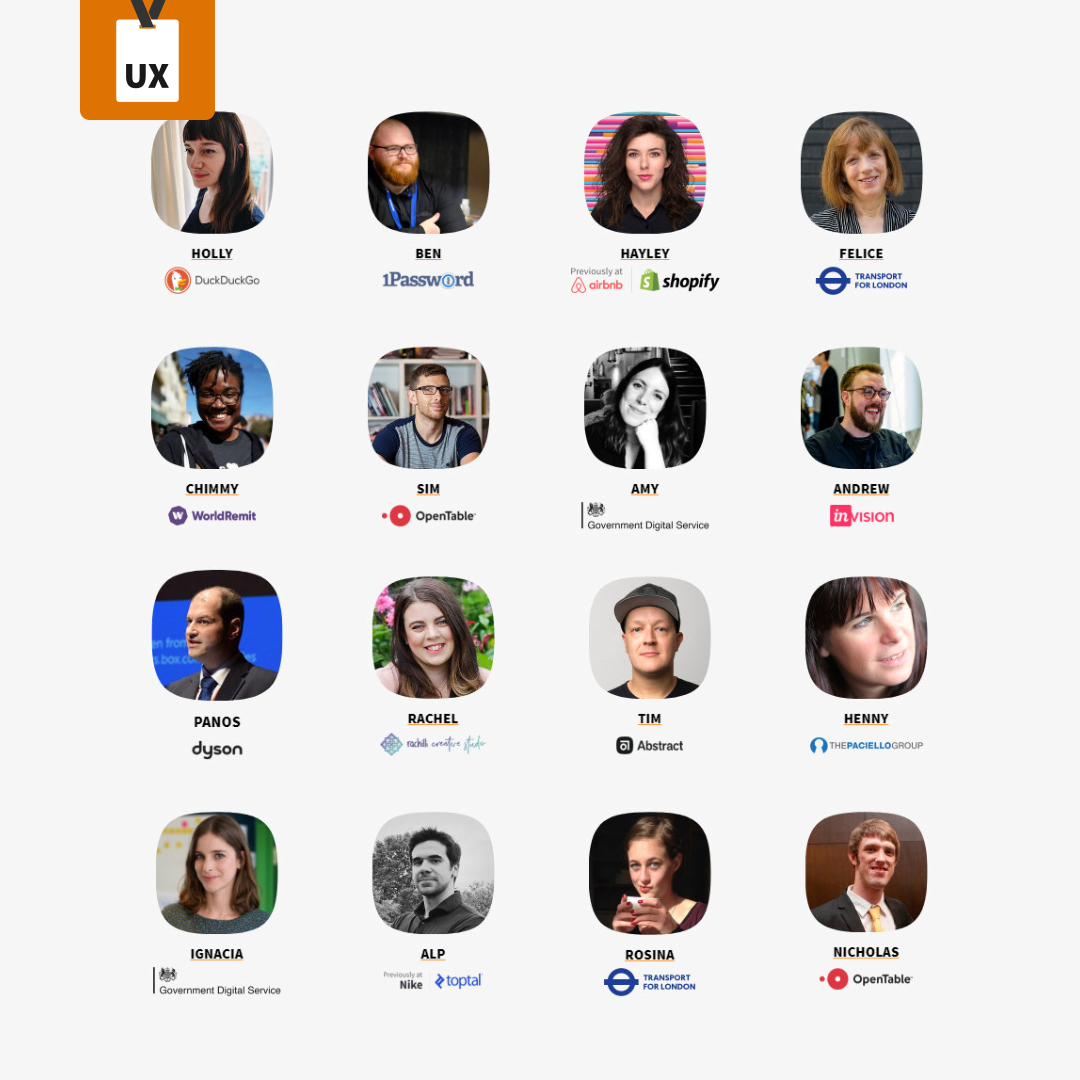 The UX Conference March 2020 Speakers