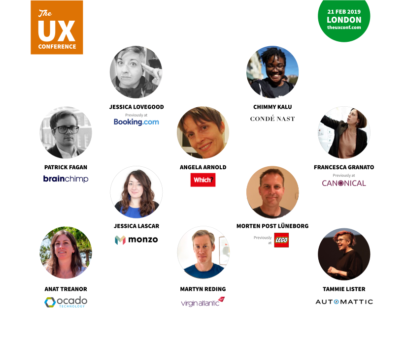 The UX Conference February 2019 speakers