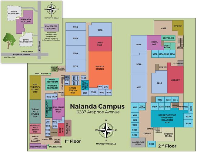 Nalanda Campus Map