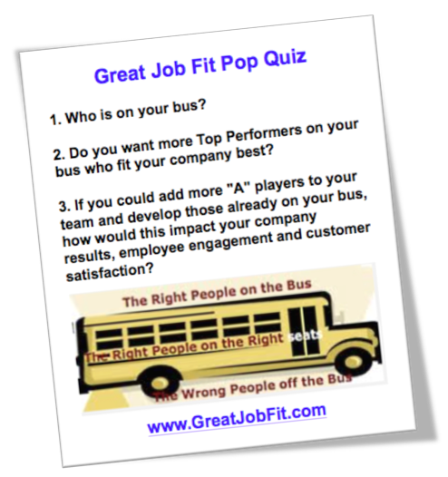 Great Job Fit People Pop Quiz