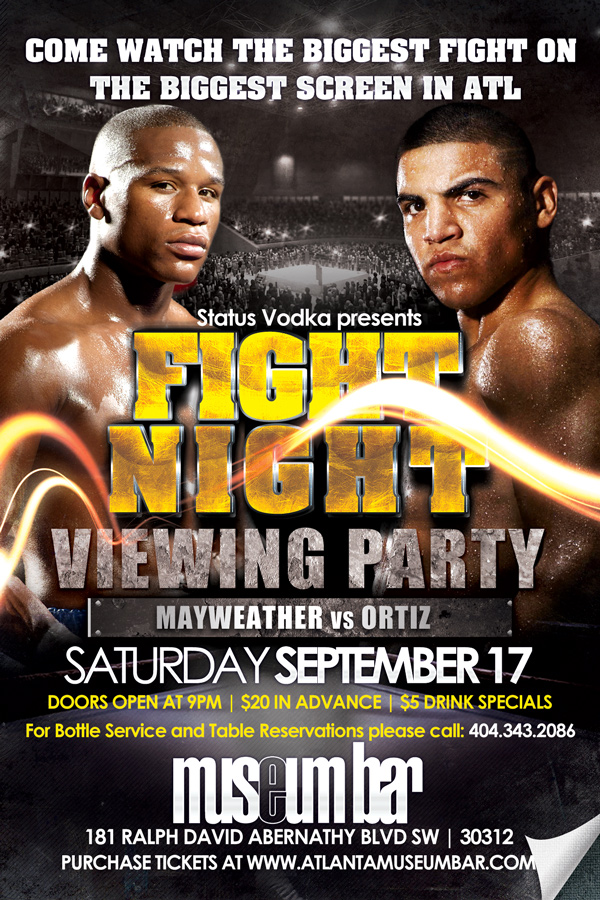 Mayweather vs Ortiz Viewing Party | Museum Bar