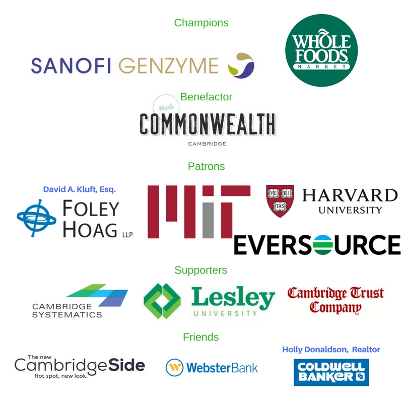 Logos of sponsors including Sanofi Genzyme and Whole Foods