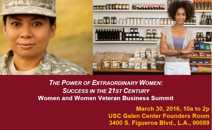 USC Small Biz Diversity Ofc Women Business Summit Flyer