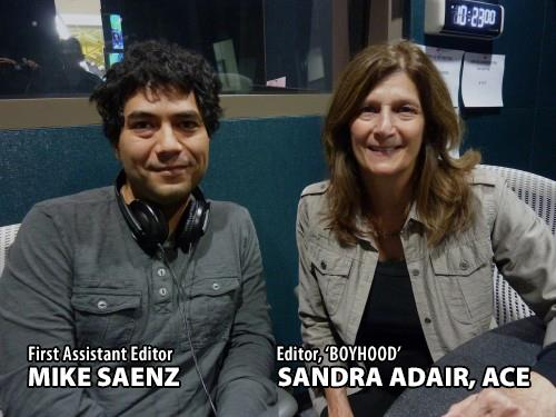First Assistant Editor Mike Saenz with Editor Sandra Adair, ACE