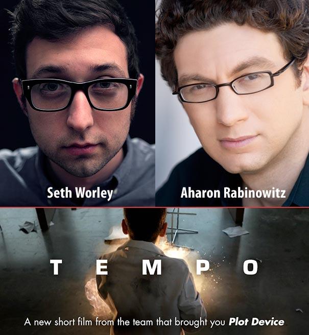 Filmmakers Seth Worley and Aharon Rabinowitz (TEMPO)