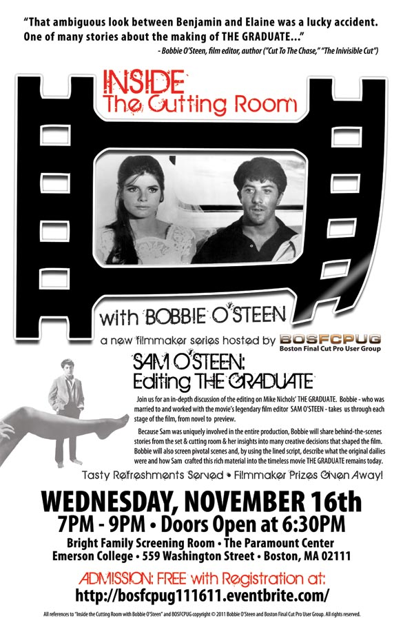 BOSFCPUG presents: Inside the Cutting Room with Bobbie O'Steen