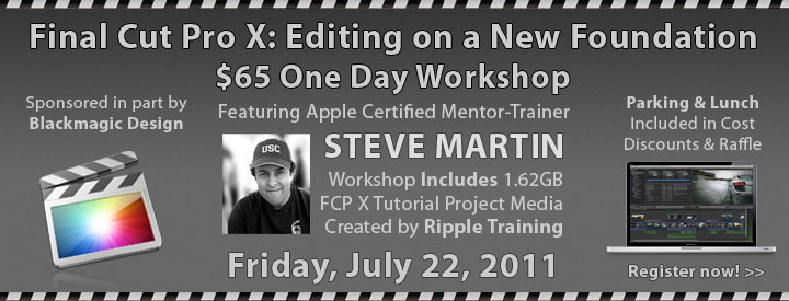 BOSFCPUG July 22nd FCP X $79 Workshop