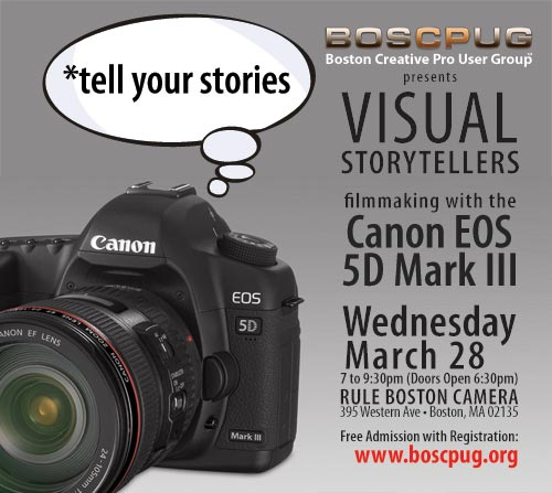 BOSCPUG presents Visual Storytellers