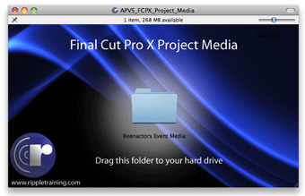 Exclusive Ripple Training FCP X Tutorial Project Media